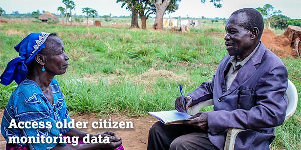 Access older citizen monitoring data